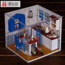 dolls house kitchen furniture m005 miniature diy wooden doll house kitchen furniture miniatura