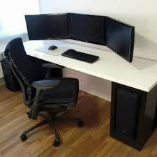 U Shaped Gaming Desk by Home Interior Makeovers And Decoration Ideas Pictures Wooden L