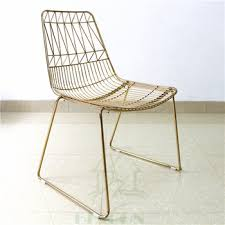Metal Dining Chairs Metal Dining Chair Classic Italy Design Metal Wire Mesh Dining Chair