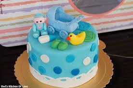 ஜ ஜ vanessa の 温馨厨房 ஜ ஜ baby shower fondant cake