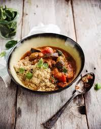 comment cuisiner quinoa quinoa aux aubergines sauce paprika régal
