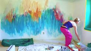 Bedroom Wall Mural Paint Rooted Interiors Abstract Bedroom Wall Mural Youtube