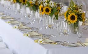 Sunflower Wedding Bridal Table