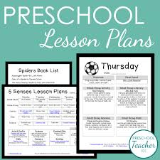 preschool lesson plan template for weekly planning math plans