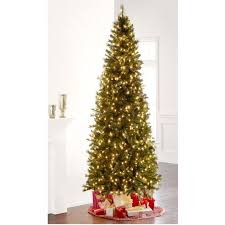 9 ft pre lit slim willow pine artificial christmas tree clear