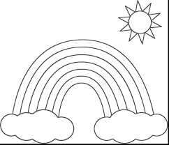 impressive rainbow cloud coloring page with rainbow coloring pages
