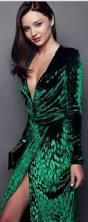 who made miranda kerr u0027s emerald green velvet long sleeve dress
