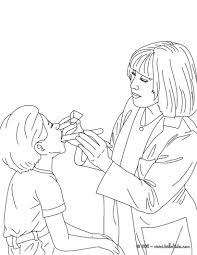 doctor coloring page letter d is for doctor coloring page free