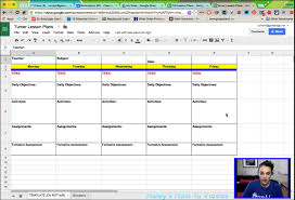 weekly lesson planner template creating lesson plans from a template in google sheets youtube creating lesson plans from a template in google sheets