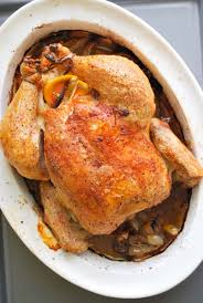 simple whole roasted chicken recipe with lemon
