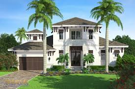 transitional west indies house plan 2 stories coastal style