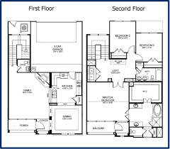 two floor house plans and elevation