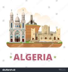 algeria country design template flat cartoon stock vector