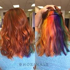 rainbow hair peekaboo hair color vivid rainbow our work