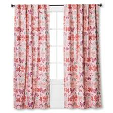 Curtains On Sale Target Twill Light Blocking Butterfly Print Curtain Panel Pink