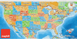 political us map political 3d map of united states