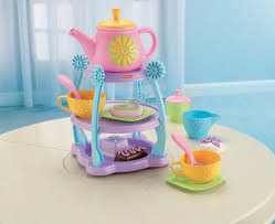 Fisher Price Servin Surprises Kitchen Table by Amazon Com Fisher Price Servin U0027 Surprises Tea Party Set Toys U0026 Games