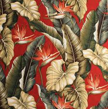 Tropical Home Decor Fabric 11 Tropical Leaf Print Barkcloth Fabrics In 31 Colorways Retro