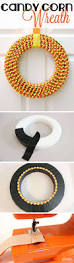easy to make halloween wreaths how to make a candy corn wreath candy corn wreath candy corn