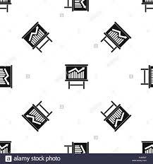 growing chart growing chart presentation pattern seamless black stock vector art
