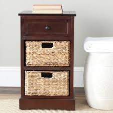 accent side storage table with coffee sofa for living room space