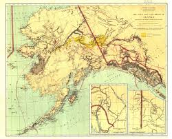Gold Line Map Gold And Coal Fields Of Alaska Map 1898 Maps Com