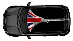 Car Bonnet Flags Mini Dach Design Uk Flag Zipper Wraparts