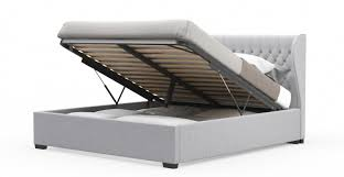 brilliant nicole king size gas lift fabric bed frame in grey buy