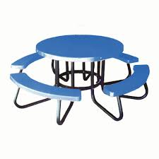commercial outdoor plastic coated round children u0027s picnic tables