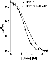 interaction of atp with a small heat shock protein from