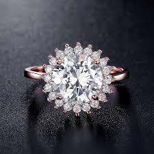 sunflower engagement ring flower engagement ring floral engagement ring halo