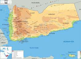 World Mountain Ranges Map by Physical Map Of Yemen Ezilon Maps