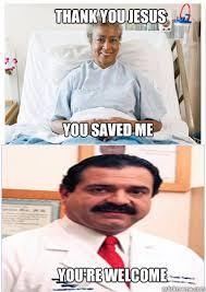 Thank Jesus Meme - thank you jesus you saved me you re welcome misunderstood
