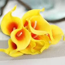 1pc artificial calla lily flower bridal bouquet real touch home
