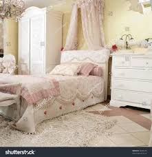 Bedroom Furniture Expensive Interior Beautiful Childs Bedroom Luxury Style Stock Photo