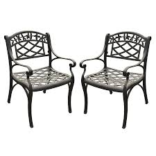 Black Iron Patio Chairs by Shop Crosley Furniture Sedona 2 Count Charcoal Black Aluminum