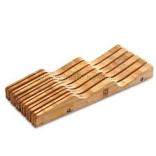 cook n home store cook n home bamboo knife storage in drawer