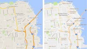 Maps Google Com San Francisco by Google Maps Update Brings Cleaner Look And New Areas Of Interest