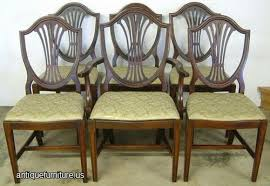 antique set mahogany shieldback dining chairs at antique furniture us