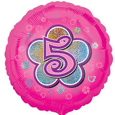 balloons for delivered pink flowers 5th birthday balloon delivered inflated in uk