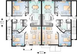 three plex floor plans brick fourplex 21430dr architectural designs house plans