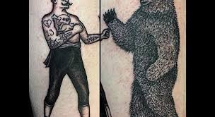 kingofbones brining the bear fight timeless tattoo glasgow