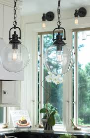 Clear Globe Pendant Light Clear Glass Globe Industrial Pendant Globe Industrial And Pendants