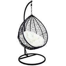 charles bentley garden wicker rattan patio hanging swing chair