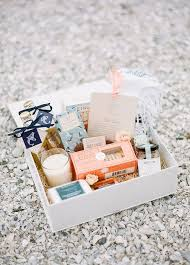 wedding guest gift bags welcome bag ideas from personalized refreshments to a fragrant