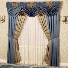 Blue Swag Curtains Blue Drapery Valances Design Idea And Decorations Drapery