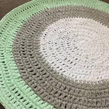 floor rug crochet nursery handmade home decor custom