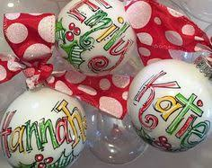 santa ornament personalized painted by dakrisinclair on etsy