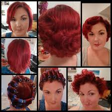 pixie hair cuts on wetset hair 1940s style wet set before during and after note the