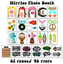 printable hippie photo booth props printable hippies photo booth props 60 s photo props hippie party